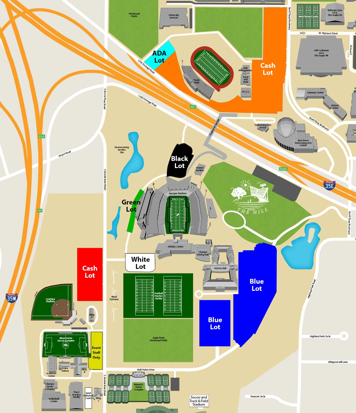 Apogee Stadium parking